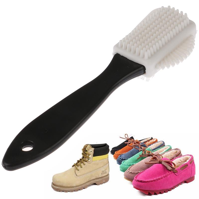 [Annabels] Yigu1 1 Chiếc Đen Bàn Chải Làm Sạch 3 Mặt Da Lộn Nubuck Boot Giày S Shape Giày CLEANER giá rẻ