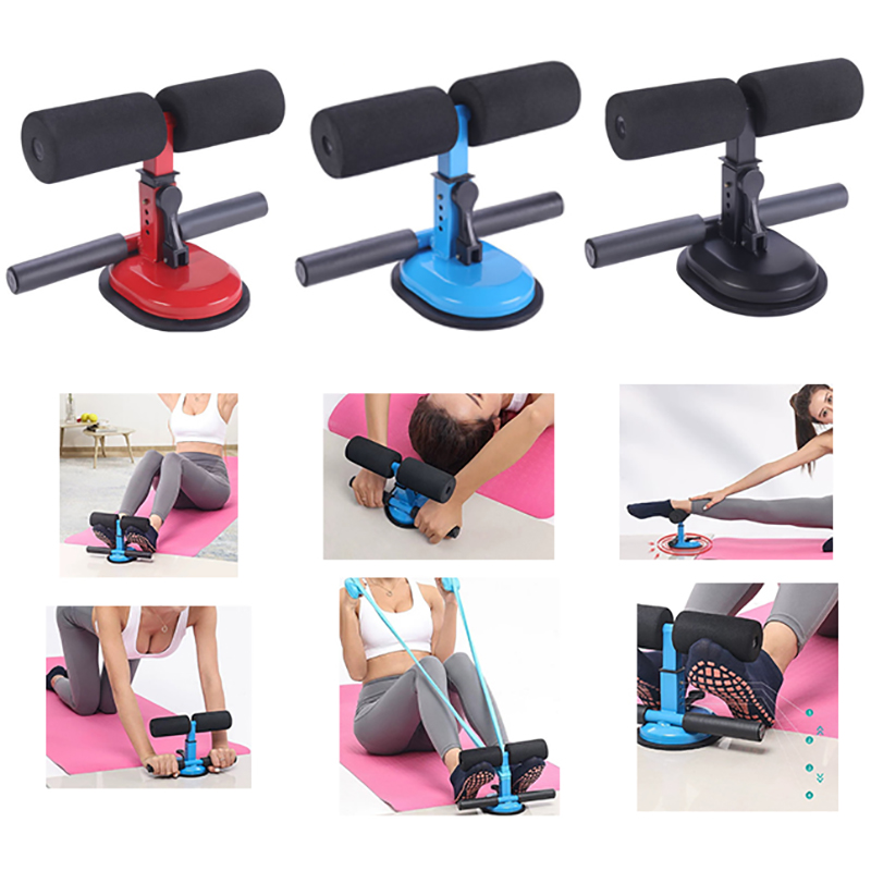 Home Sit Up Bar Floor Assistant Exercise Stand Padded Ankle Support Gym Fitness