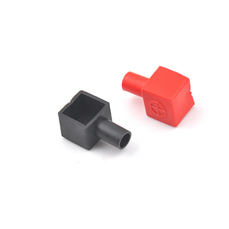 2Pcs Motorcycle Terminal Rubber Covers Battery Sleeve Insulation Ca~SG ^P